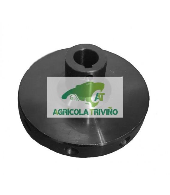 Platillo de giro sinfín para eje de 16 mm